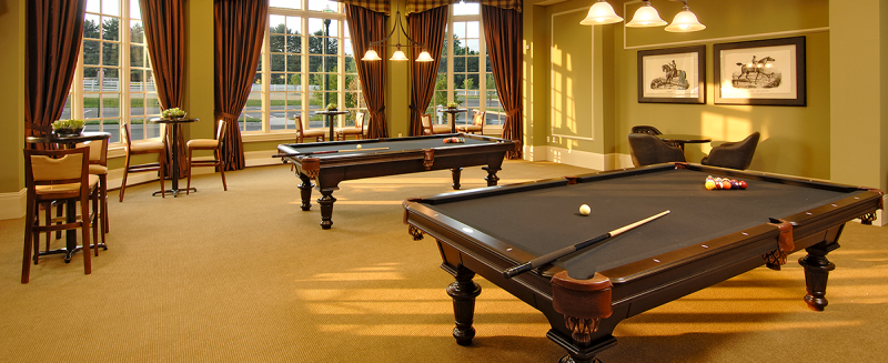 Billiards Room at Bulle Rock New Homes in Harford County